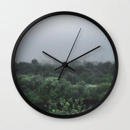 Misty River Morning Wall Clock