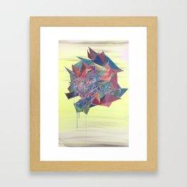 Floating Rose in the sky Framed Art Print