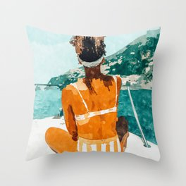 Solo Traveler Throw Pillow