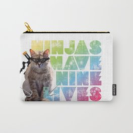 Ninjas Have Nine Lives Carry-All Pouch