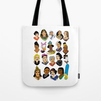 women Tote Bags featuring Women by Anette Moi