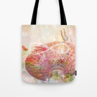 forever young Tote Bags featuring Forever Young by Lisa Argyropoulos