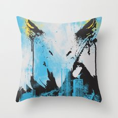 Eagle Eye Watching - Blue Throw Pillow