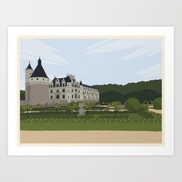 Chateau de Chenonceau (no writing) Art Print