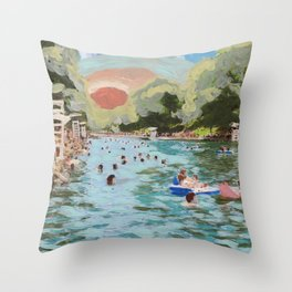 Barton Springs Throw Pillow