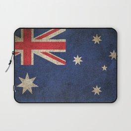 Old and Worn Distressed Vintage Flag of Australia Laptop Sleeve