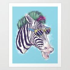 The East Village Zebra Punks Art Print