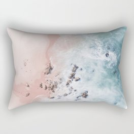 Sea Bliss - aerial beach photography by Ingrid Beddoes Rectangular Pillow