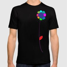 Flower 2 SMALL Black Mens Fitted Tee