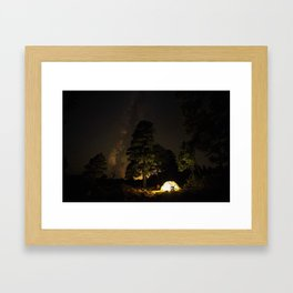 Camping out at Zion National Park's West Rim Trail at about 7,000 feet. 4 Framed Art Print