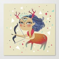 sagittarius Canvas Prints featuring Sagittarius by Ana Varela