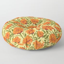 Marigold Flowers Pattern Floor Pillow