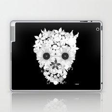 Skull Flowers white Laptop & iPad Skin