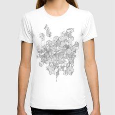 Simplexity White Womens Fitted Tee SMALL
