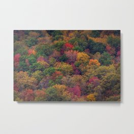 Fall Mountainside Metal Print