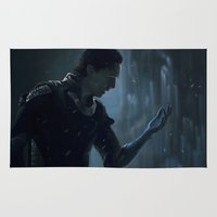 loki Area & Throw Rugs featuring Loki #1 by Annike