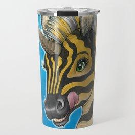 Goodnight Unicorn Zebra Travel Mug