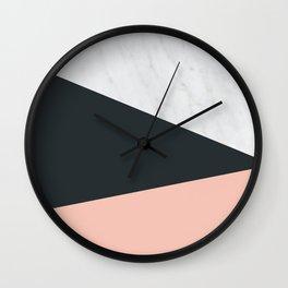 Marble, dark navy Wall Clock