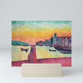Émile Bernard - Vue du Port de Vathy, Samos Mini Art Print