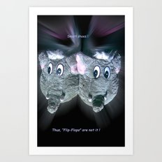 Smart shoes. Art Print