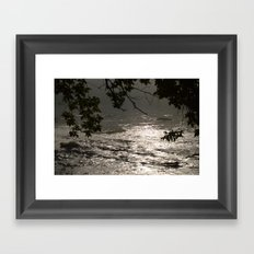 In A Misty Rain Framed Art Print