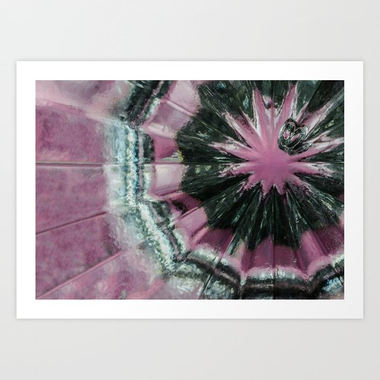 Black and pink abstract Art Print