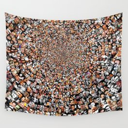 """""""The Work 3000 Famous and Infamous Faces Collage Wall Tapestry"""