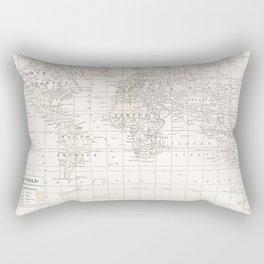 Vintage Cream and White Rectangular Pillow