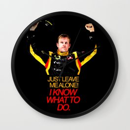"""I Know What To Do!"" - Kimi Raikkonen Wall Clock"