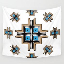 aztec cross mandala Wall Tapestry
