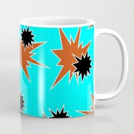 Stars (Orange & Black on Blue) Coffee Mug