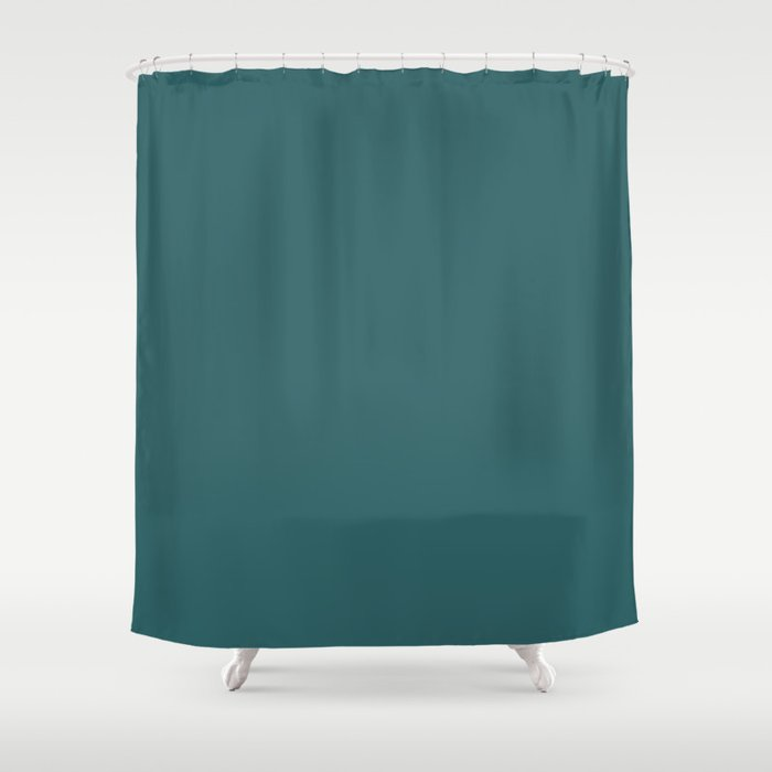 Solid Color DARK TEAL Shower Curtain