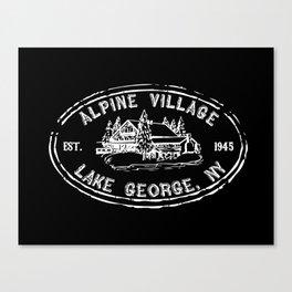 Vintage Alpine Village Logo Canvas Print
