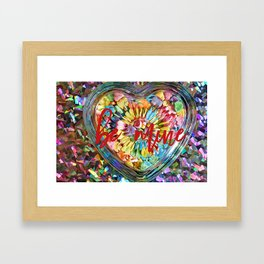 CANDY HEART GREETING CARD TOTE WALL ART ETC Framed Art Print