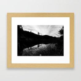 FROM THE SIDE Framed Art Print