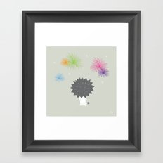 The Happy Fireworks Framed Art Print