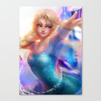 elsa Canvas Prints featuring Elsa by ChrySsV