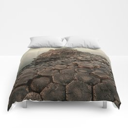 Sunny morning in Giant's Causeway Comforters
