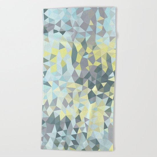 Spring Rain Tris Beach Towel