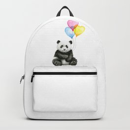 Panda Baby with Heart-Shaped Balloons Whimsical Animals Nursery Decor Backpack