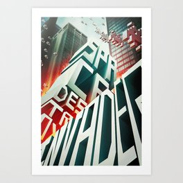 Invaders in the city Art Print