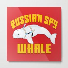 Russian Spy Whale Metal Print