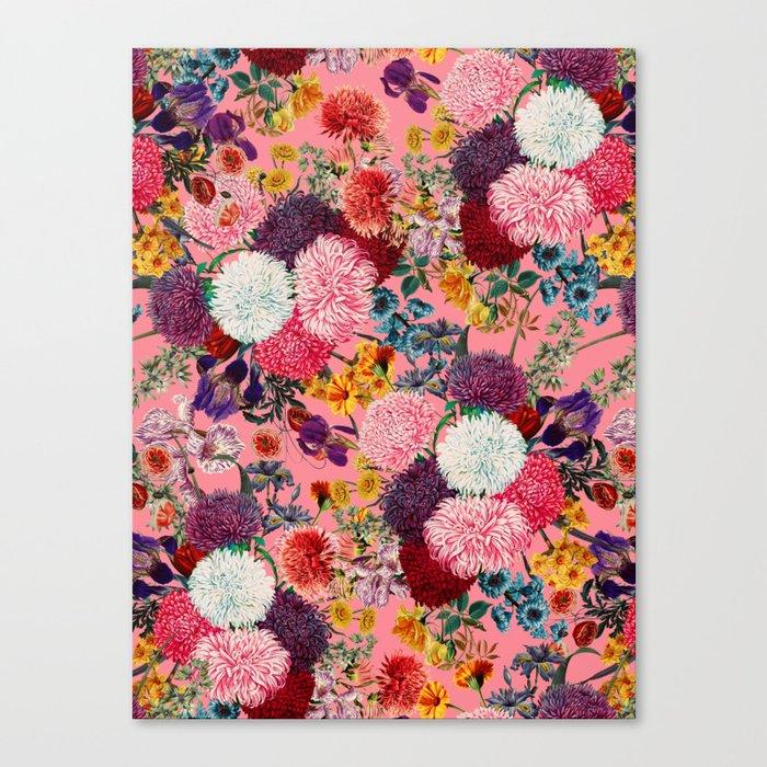 Floral Pink Pattern Leinwanddruck