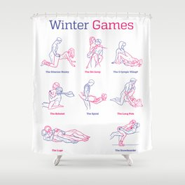 Winter Games Shower Curtain