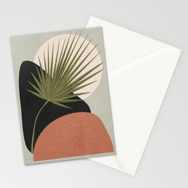 Tropical Leaf- Abstract Art 5 Stationery Cards
