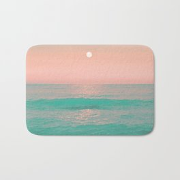 Light Pink Turquoise Waters Bath Mat