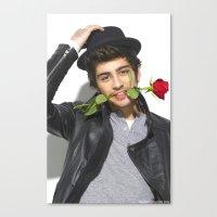 zayn malik Canvas Prints featuring Zayn Malik by Sierra Ferrell