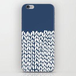 Half Knit Navy iPhone Skin