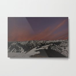Sunset on Elbert Metal Print