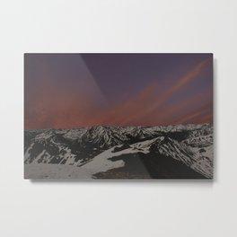 Sunset on Elbert Metal Print